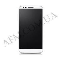 Дисплей (LCD) LG D802 G2/  D805 G2 с сенсором белый оригинал 20 пин + рамка