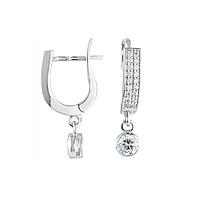 Серебряные серьги-подвески