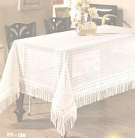 Скатерть 160х220 VEROLLI  Dundar Lez гипюр белая