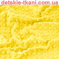 Плюш minky желтого цвета для пошива пледов, игрушек