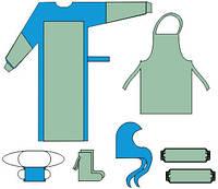 Комплект одягу та покриттів акушерських АНТИ-СНІД, стерильний, одноразовий