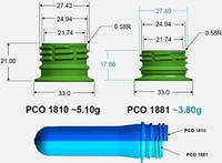 ПЭТ преформа PCO 1881 низкое горло 50,7 грамм