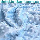 Плюш minky голубого цвета., фото 2