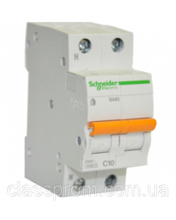 Автоматический выключатель ВА63 1П+Н 40 A C серия Домовой Schneider Electric
