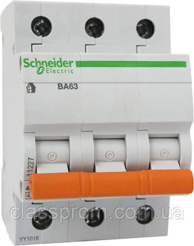 Автоматический выключатель ВА63 3П 50 A C серия Домовой Schneider Electric