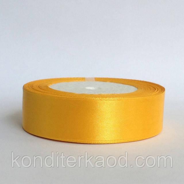 Лента атласная 2,5 см  теплый желтый