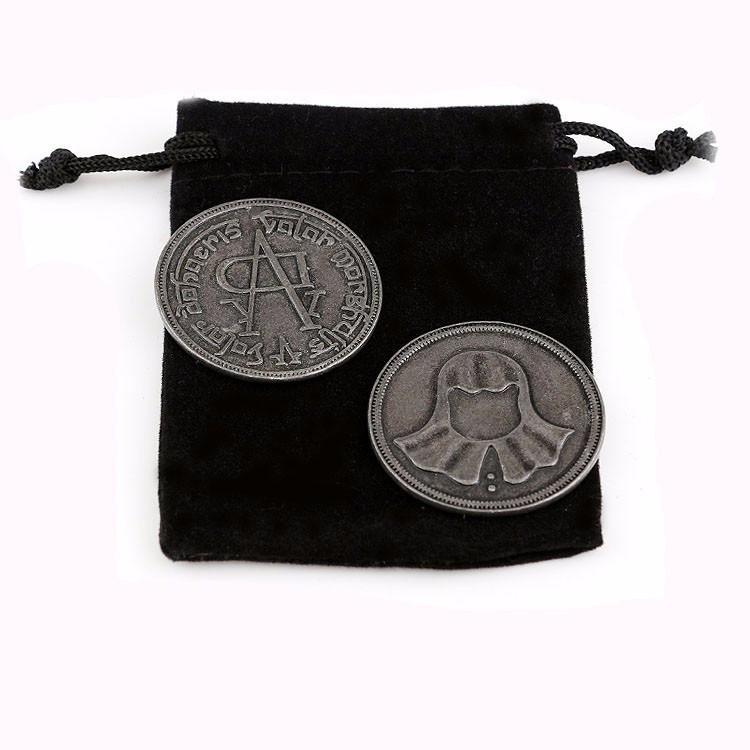 Монета Валар Моргулис + бархатный мешочек