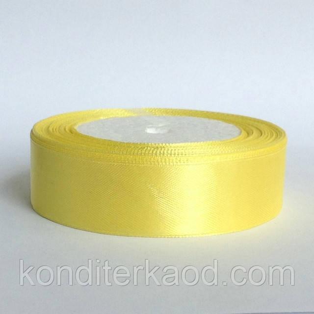 Лента атласная 2,5 см  светло желтый