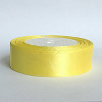Лента атласная 2,5 см  светло желтый, фото 1