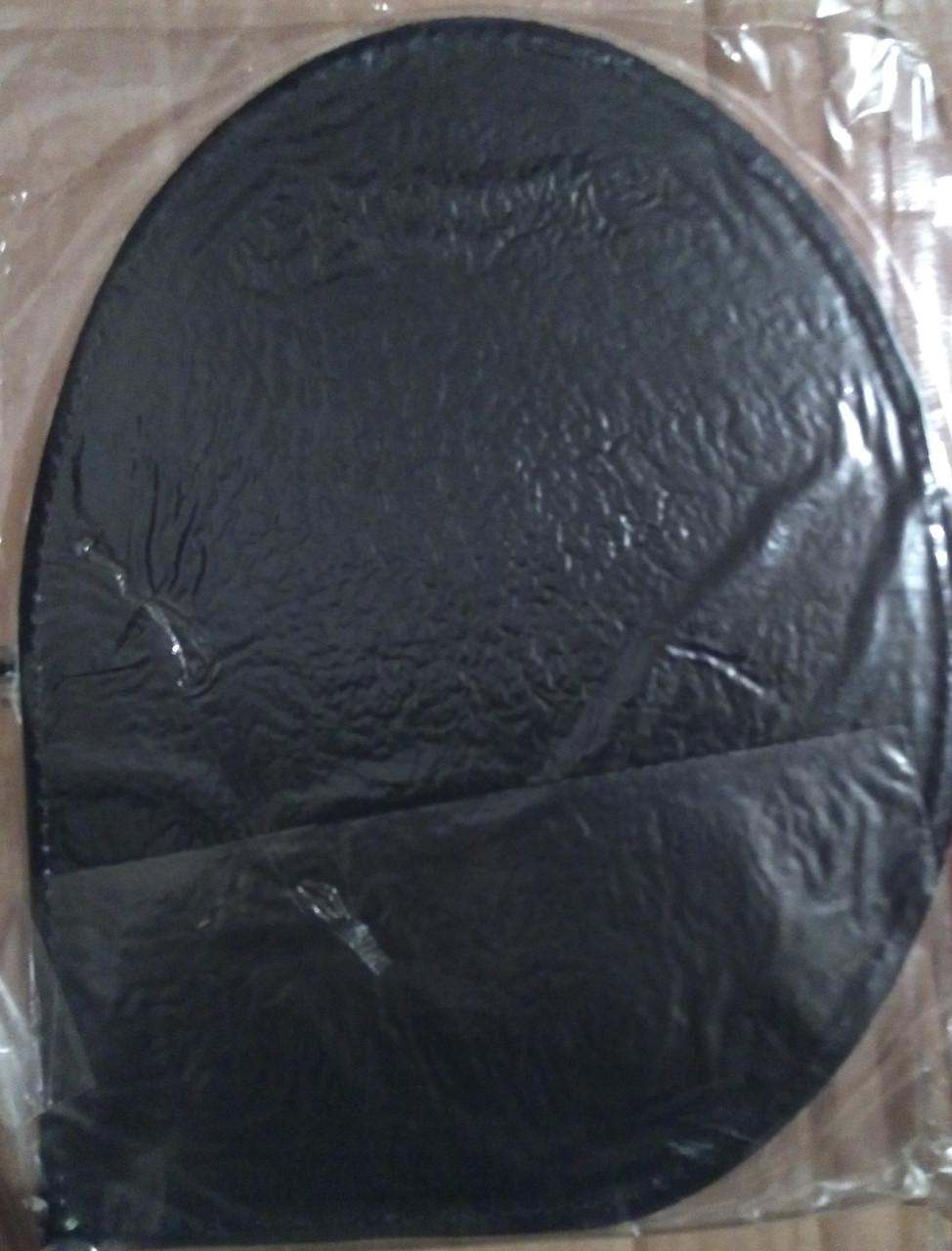 Кожаный коврик для мыши (капелька) черный