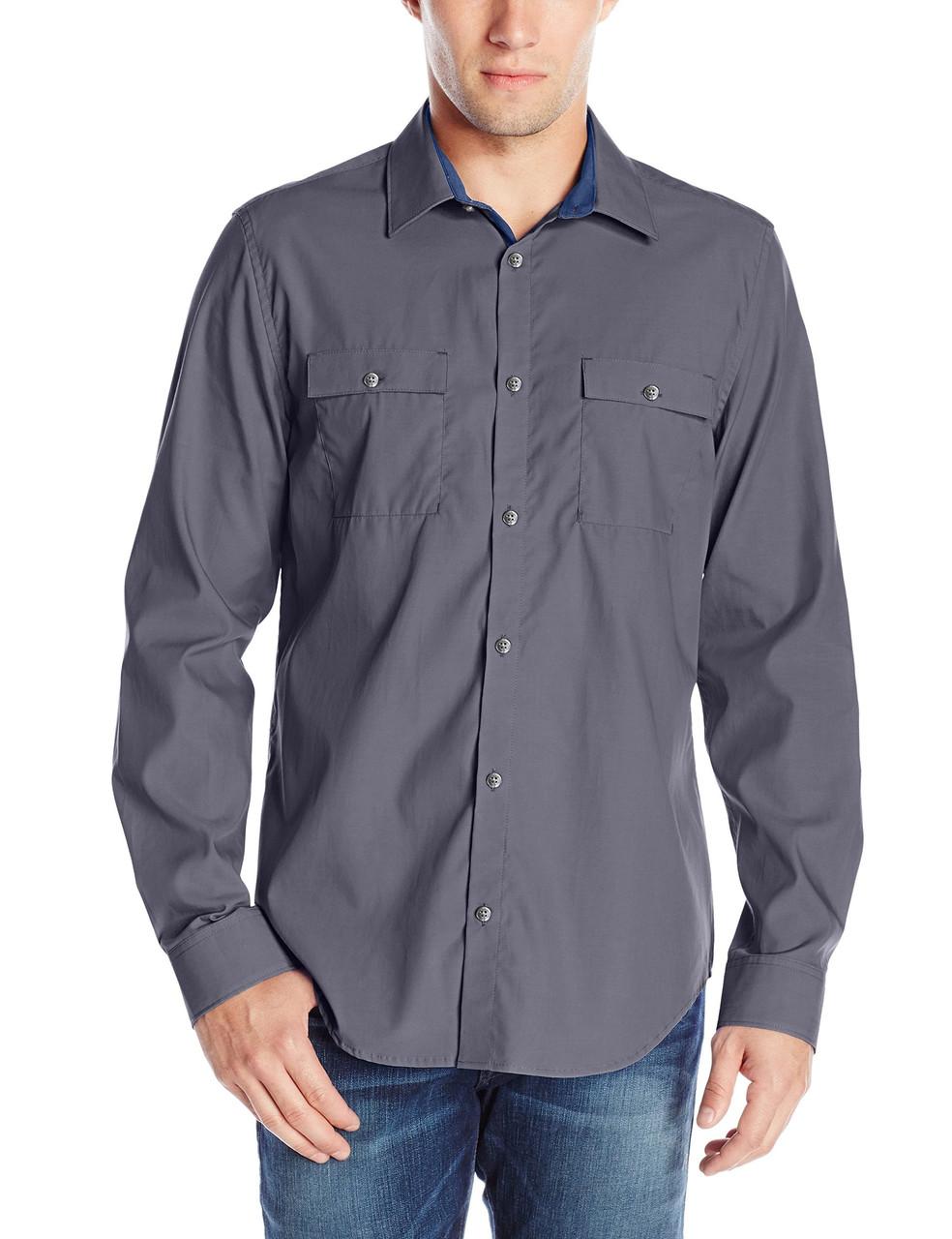 Рубашка Calvin Klein Jeans, M, Quiet Shade, 40QW185-078