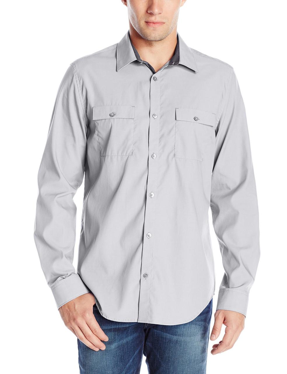 Рубашка Calvin Klein Jeans, M, Silver Filigree, 40QW185-045