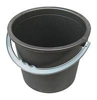 """Ведро пластиковое 8 литров черное """"Юнипласт"""", фото 1"""