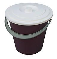 Ведро полиэтиленовое 10 литров цветное хозяйственное с крышкой