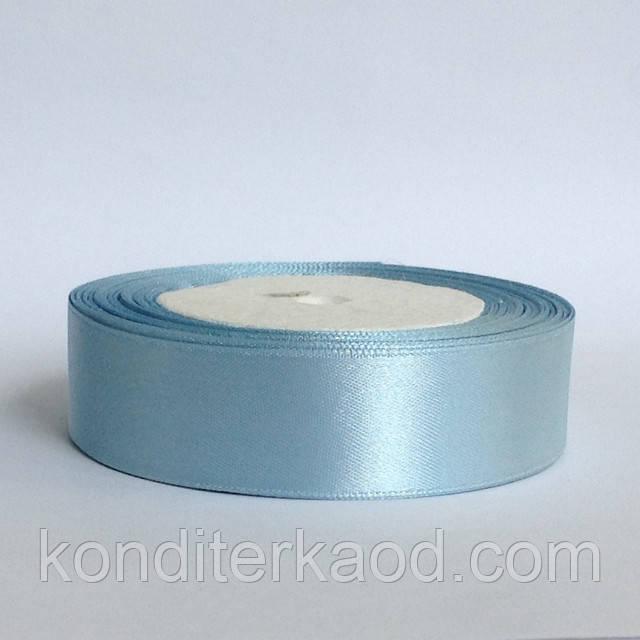 Лента атласная 2,5 см   голубой
