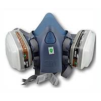 3М 7502 (М) Маска Силиконовая в Cборе с Угольным Фильтром Респиратор для  Покраски Защитная d8e4539b6ff4c