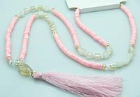 Романтичные розовые бусы оптом. Бижутерия RRR. 450