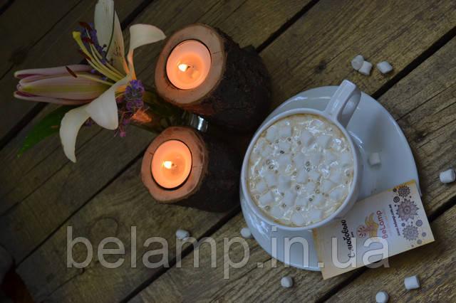 свічники з натурального дерева в стилі рустик