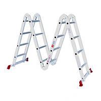 Лестница складная алюминиевая  4*4ступ. 4.75м INTERTOOL LT-0029