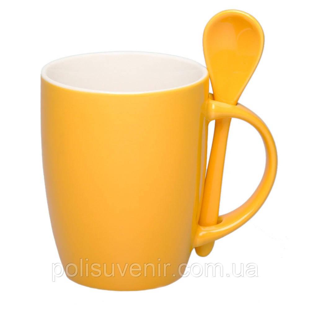 Чашка з ложкою 300 мл