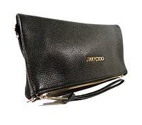 Стильная кожаная сумочка, клатч Jimmy Choo 9918 черный