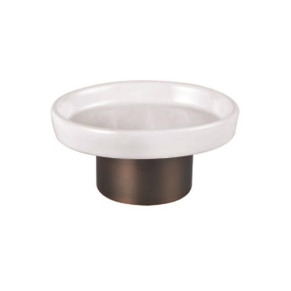 Мыльница круглая, стекло, металл, MYSTIC, KL-127AH