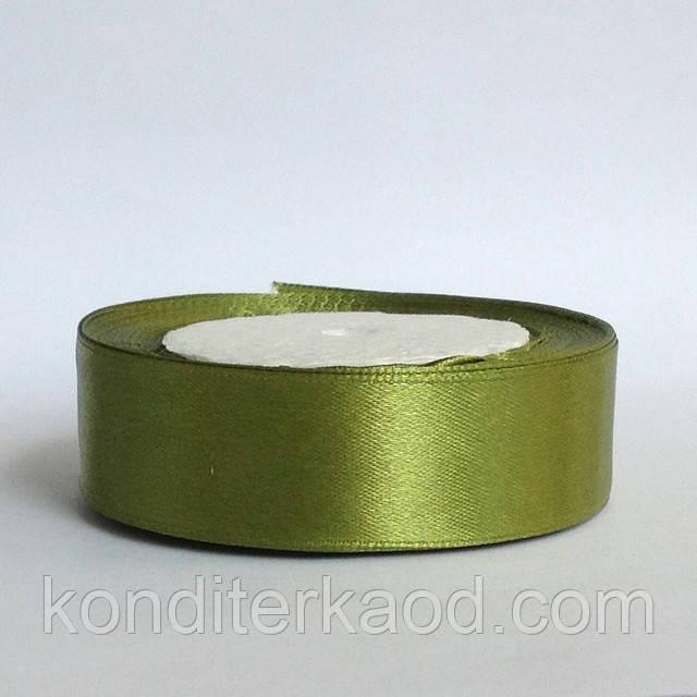 Лента атласная 2,5 см    оливковый