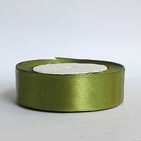 Лента атласная 2,5 см    оливковый, фото 1