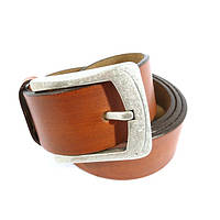 Ремень мужской кожаный универсальный Bond Non 4034-1291 коричневый, винтаж