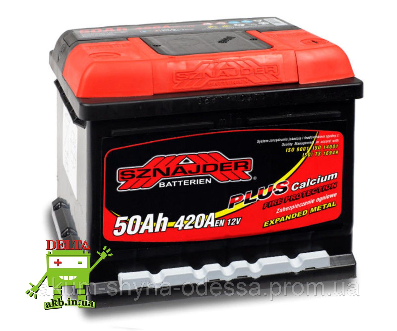 АКБ SZNAJDER Plus 6СТ- 50Ah 420A L