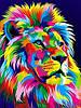 Набор для рисования 30×40 см. Королевский радужный лев Художник Ваю Ромдони - Фото