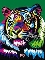 Набор для рисования 30×40 см. Королевский радужный тигр Художник Ваю Ромдони, фото 1