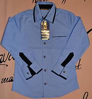 Рубашка голубая для школы от 110 до 128 Blueland