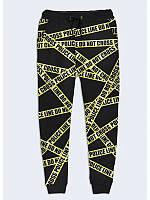 Классные женские брюки Police line с оригинальным 3D-принтом XS