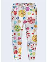Замечательные женские брюки Леденцы с прикольным рисунком XS