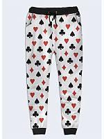 Прикольные женские брюки Масти с оригинальным рисунком XS