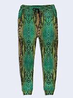 Классные Женские 3D-брюки Змеиная кожа с ярким принтом XS