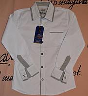 Рубашка белая для школы от 110 до 128 Blueland