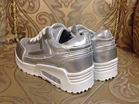 Кросовки серебро
