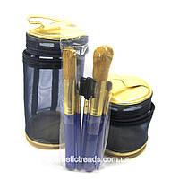 Набор кистей для макияжа (5 кистей+2 косметички) Avon