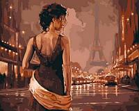 Раскраски по номерам 40×50 см. Париж в старинных тонах
