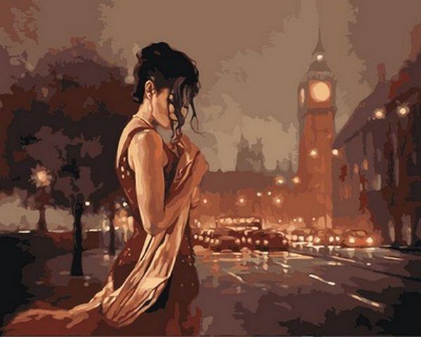 Раскраски по номерам 40×50 см. Лондон в стиле ретро