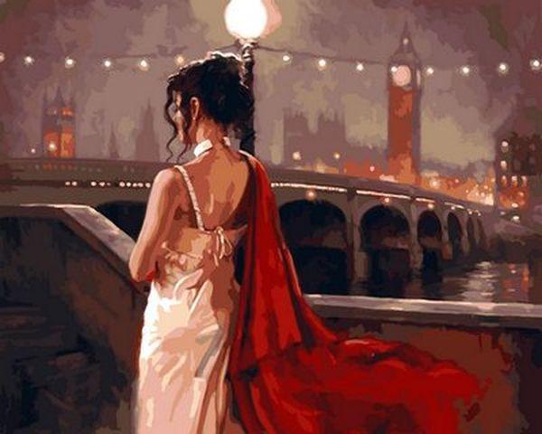 Картина по номерам 40×50 см. Винтажный Лондон