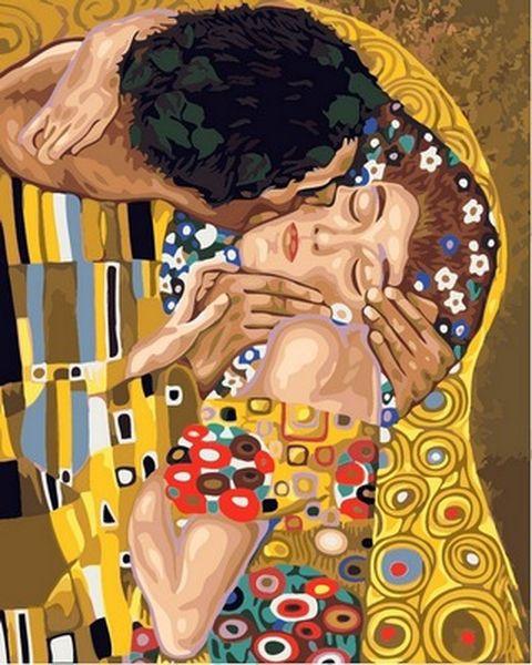 Раскраски для взрослых 40×50 см. Поцелуй Художник Густав Климт