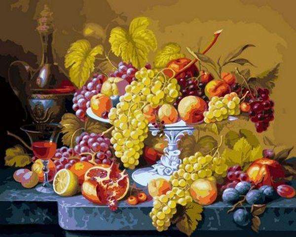 Раскраски для взрослых 40×50 см. Роскошный виноград купить ...