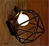 Бра. Настенный светильник из арматуры в индустриальном стиле.