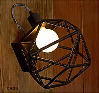 Бра. Настенный светильник из арматуры в индустриальном стиле., фото 1