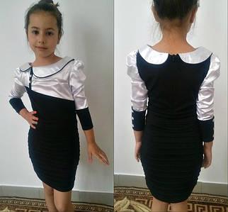 Школьное платье чёрное (мм-491)