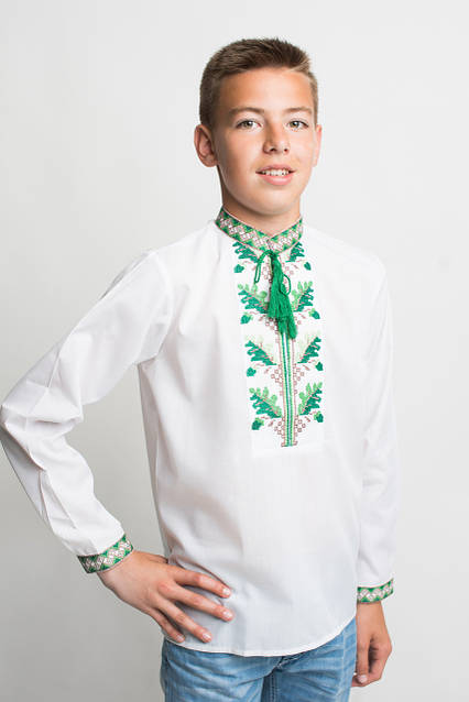Елегантная рубашка для мальчика с вышивкой, фото 1