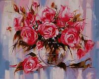 Раскраски для взрослых 40×50 см. Нежные розы
